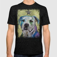 Pit Bull Terrier Mens Fitted Tee Tri-Black SMALL