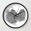 Zentangle  Illustration - Funky Chicken Wall Clock