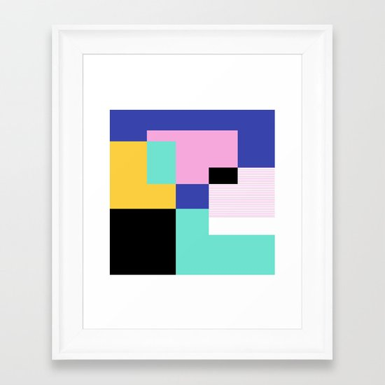 Tile Harmony Framed Art Print