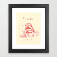 i stool feel a little sad Framed Art Print