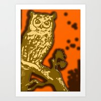 My Eyes Are Up Here #1 Art Print