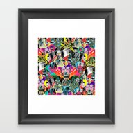 Framed Art Print featuring POP by DIVIDUS