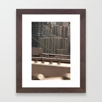 Geometric City Framed Art Print