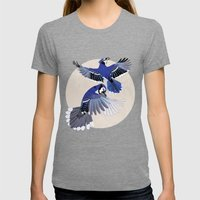 Blue Jays. Womens Fitted Tee Tri-Grey SMALL