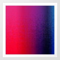 Blupink Dots I Art Print