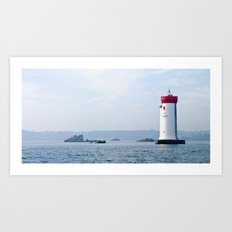 French Lighthouse. France. Bretagne. Art Print