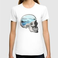 skull T-shirts featuring Brain Waves by Chase Kunz