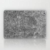 Grey And Black Doodles Laptop & iPad Skin
