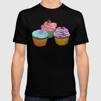Cupcakes!  Mens Fitted Tee Black SMALL