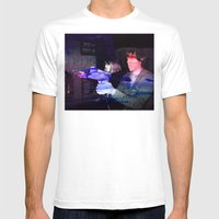 Jurassic Arcade Mens Fitted Tee White SMALL