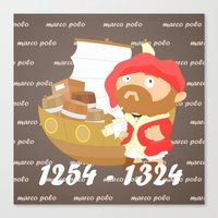 Marco Polo Canvas Print