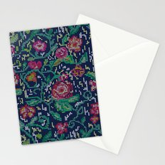 Pixel Flowers Stationery Cards