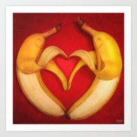 Banana Love Art Print