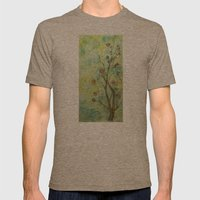 Branch With Flowers Mens Fitted Tee Tri-Coffee SMALL