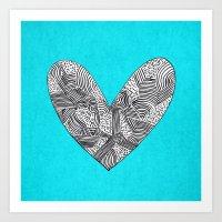 Patterned Heart Art Print