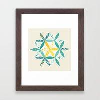 Patchwork Sunshine Framed Art Print