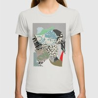 Switched on Womens Fitted Tee Silver SMALL
