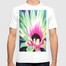 Bursting Bloom SMALL White Mens Fitted Tee