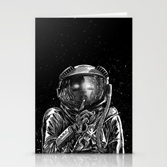 The Secrets of Space Stationery Card