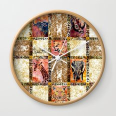 Quilted African Life. Wall Clock