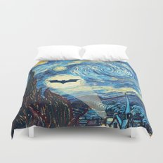 Starry Night Heroes Duvet Cover