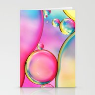 Rainbow And Oil Stationery Cards