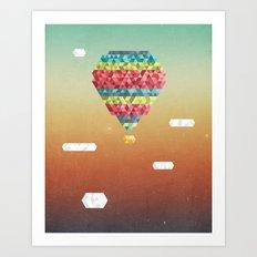 Triangular Skies Art Print