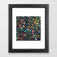Sparkles: Paint Daubs Framed Art Print