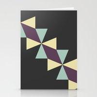 Oragami Traingles Stationery Cards