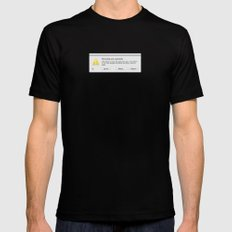 Adobe Photoshop Expectedly Quit SMALL Black Mens Fitted Tee