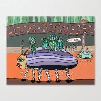 Curious Creatures 6 Canvas Print