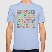Vintage Spring Pattern Mens Fitted Tee Tri-Blue SMALL