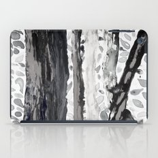 Rainbow Eucalyptus Graffiti artist tree from shedding bark South Pacific Black and White Night iPad Case