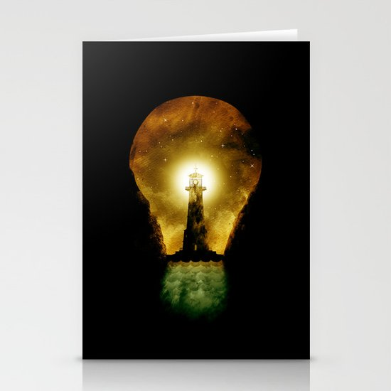reach for the light Stationery Card