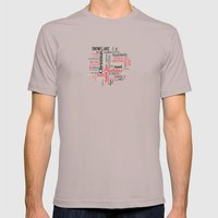Christmas Typography Mens Fitted Tee Cinder SMALL