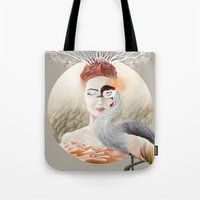 Tote Bag featuring Bird of Cranes by Ruta13