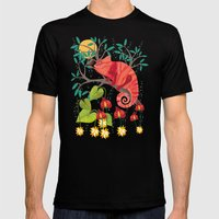 The Red Chameleon  Mens Fitted Tee Black SMALL