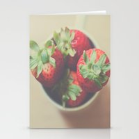 Berries in a cup Stationery Cards