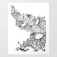 Jellyfish Migration Art Print