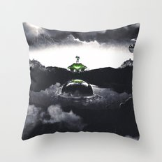 The Landing A Zebes Surrealism Throw Pillow