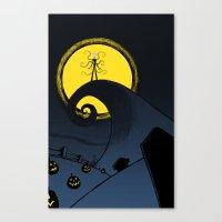 Nightmare Before Slender Canvas Print
