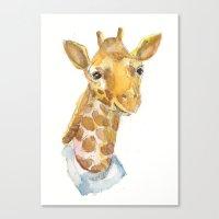 Canvas Print featuring Giraffe baby by Becca Kallem