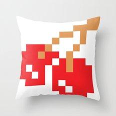 8-bit Cherry Throw Pillow