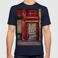 West Village Wall Mens Fitted Tee Navy SMALL