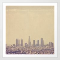 Southland. Los Angeles skyline photograph Art Print
