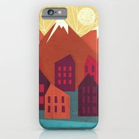 mountains iPhone & iPod Cases featuring Mountains by Kakel