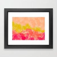Swimming In Flowers Framed Art Print
