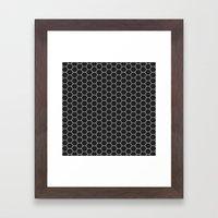 Black Hex Framed Art Print