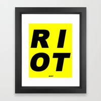 RIOT (BLACK AND YELLOW) Framed Art Print