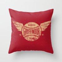 Vintage Gryffindor Quidditch Team Throw Pillow